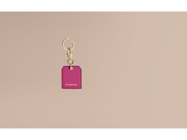 Grainy Leather Key Charm in Brilliant Fuchsia - Women | Burberry - cell image 1