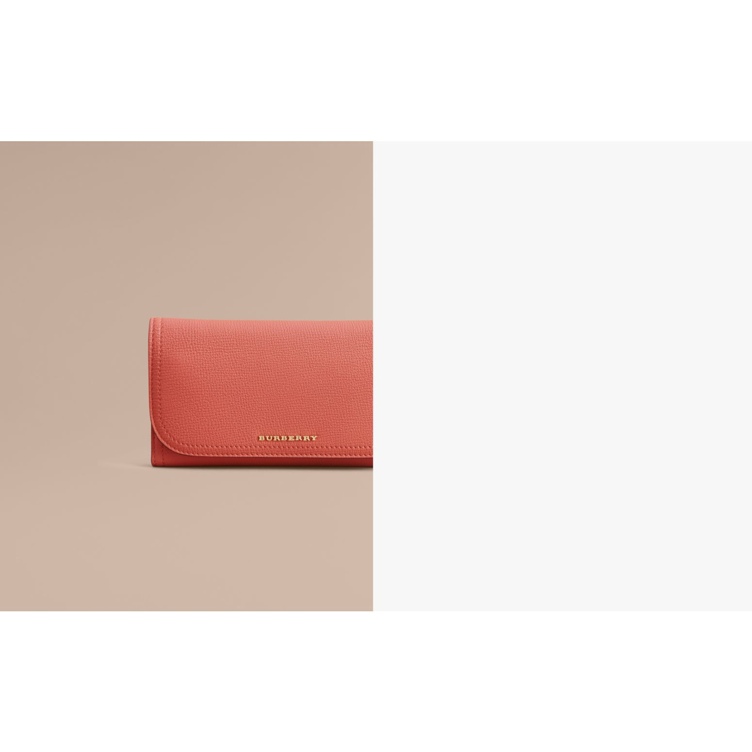 Two-tone Leather Continental Wallet and Coin Case in Cinnamon Red/multi - Women | Burberry - gallery image 2