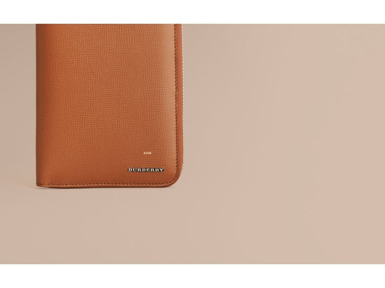 London Leather Ziparound Wallet in Tan | Burberry Australia - cell image 1