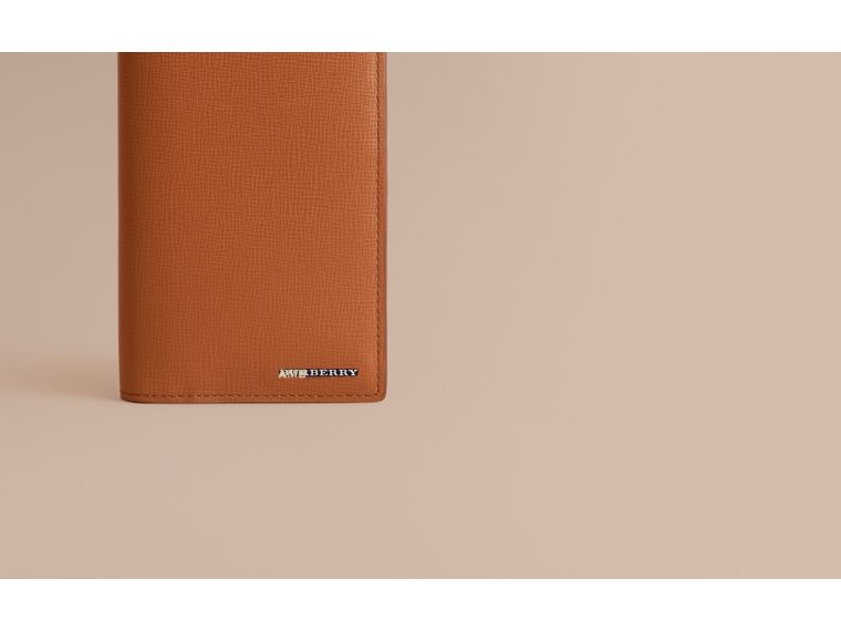 London Leather Continental Wallet in Tan | Burberry - cell image 1