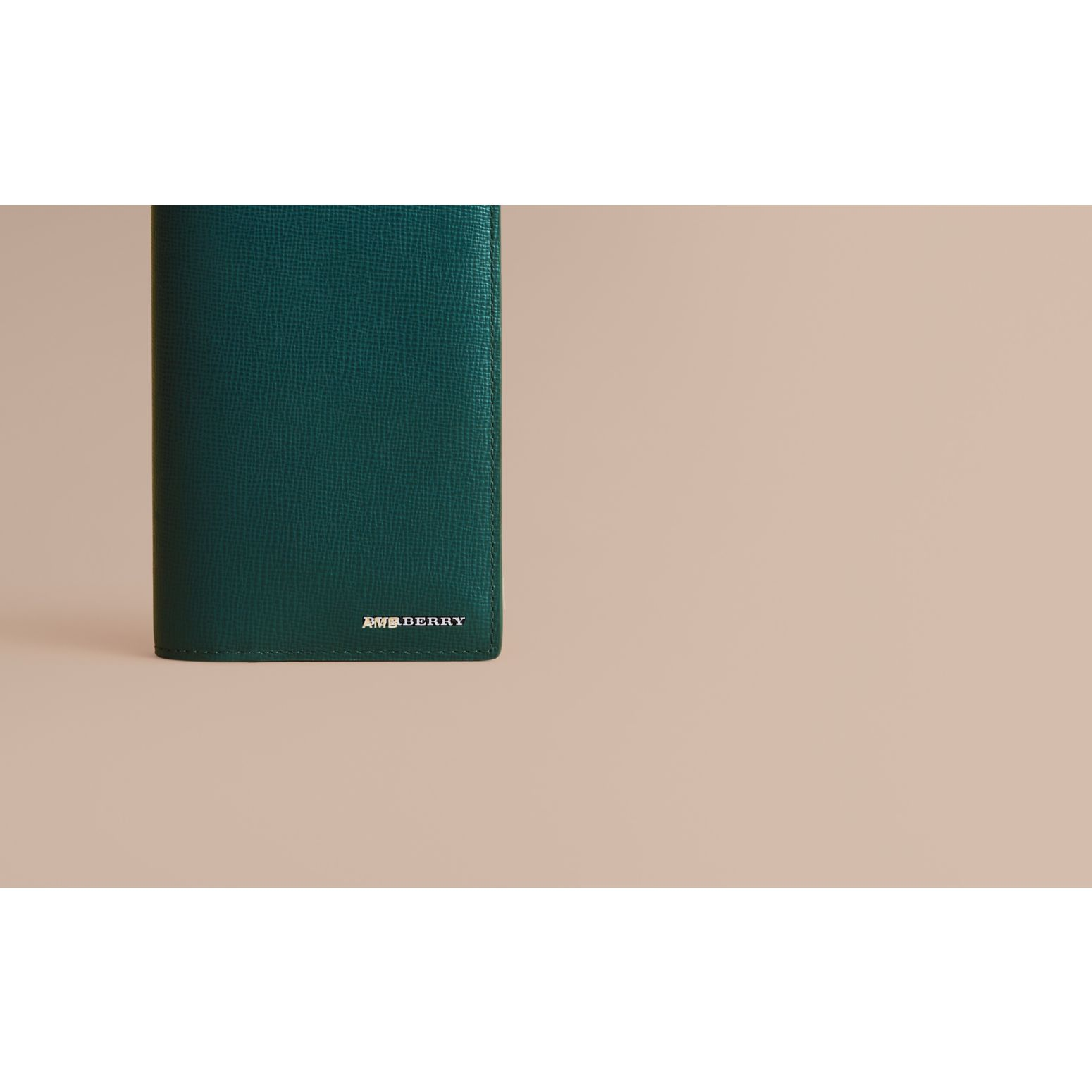 London Leather Continental Wallet Dark Teal - gallery image 2