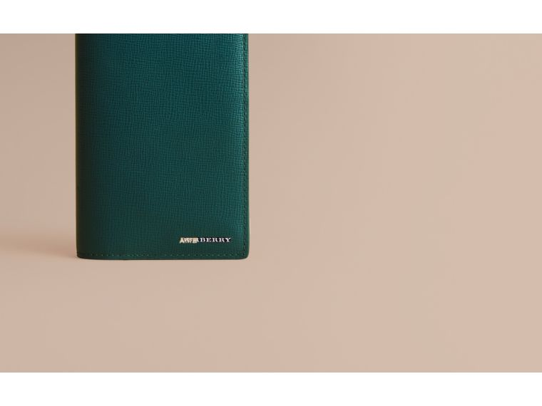 London Leather Continental Wallet Dark Teal - cell image 1