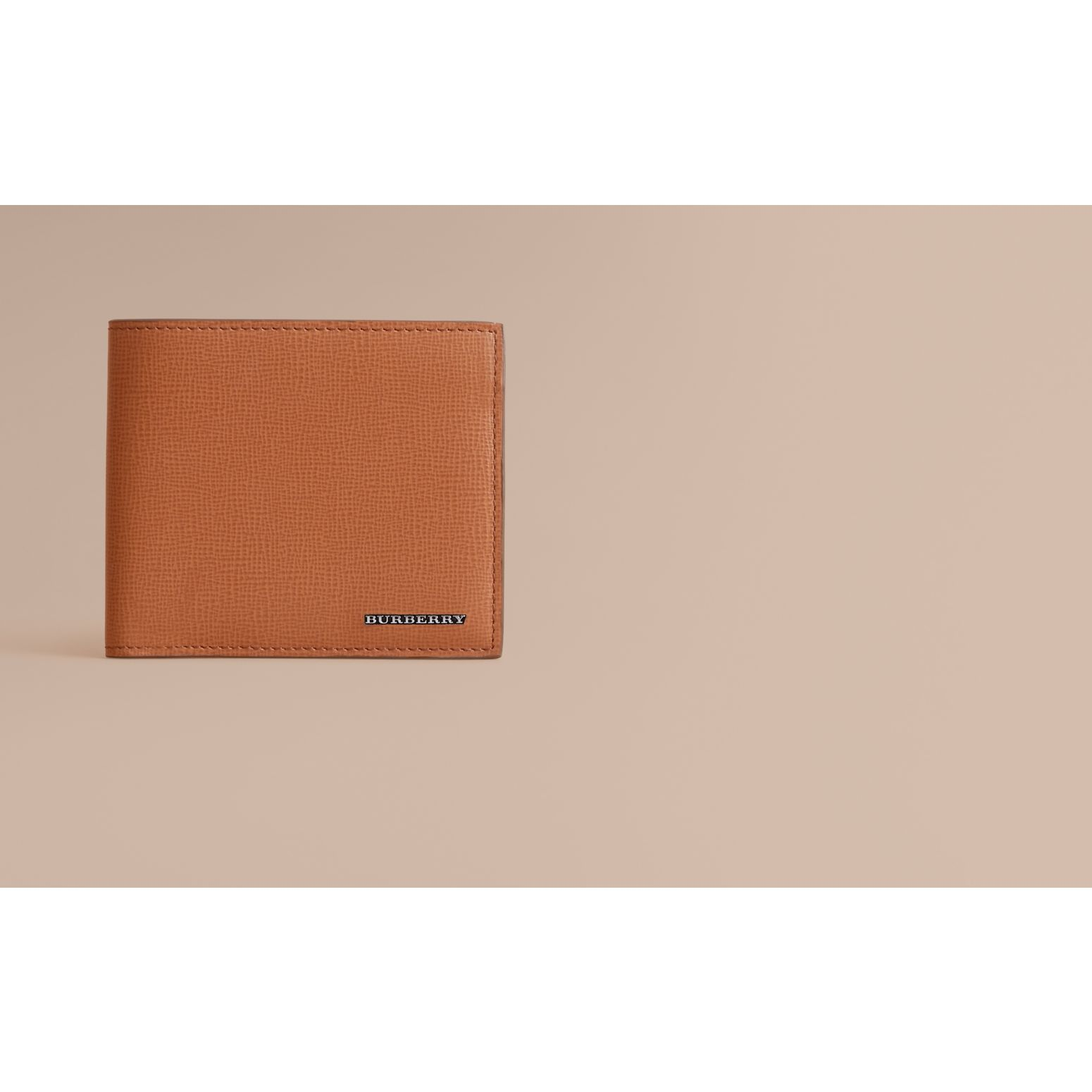 London Leather International Bifold Wallet in Tan | Burberry Australia - gallery image 2