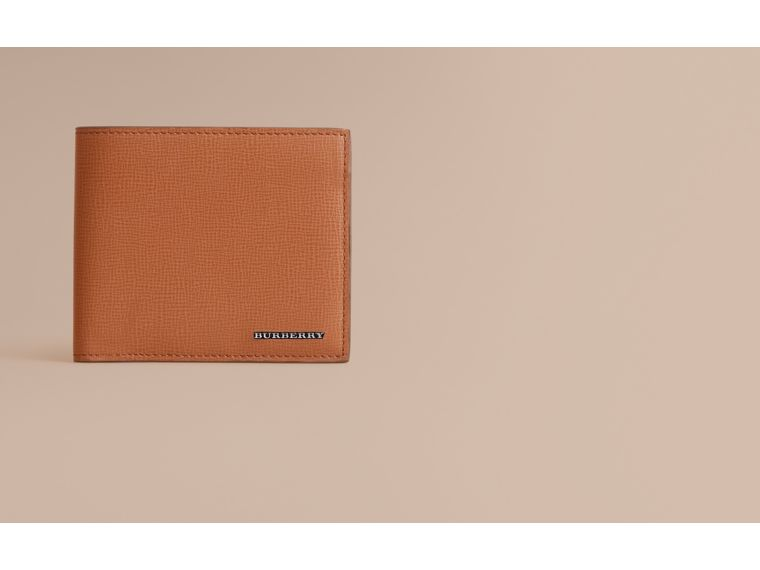 London Leather International Bifold Wallet in Tan | Burberry Australia - cell image 1