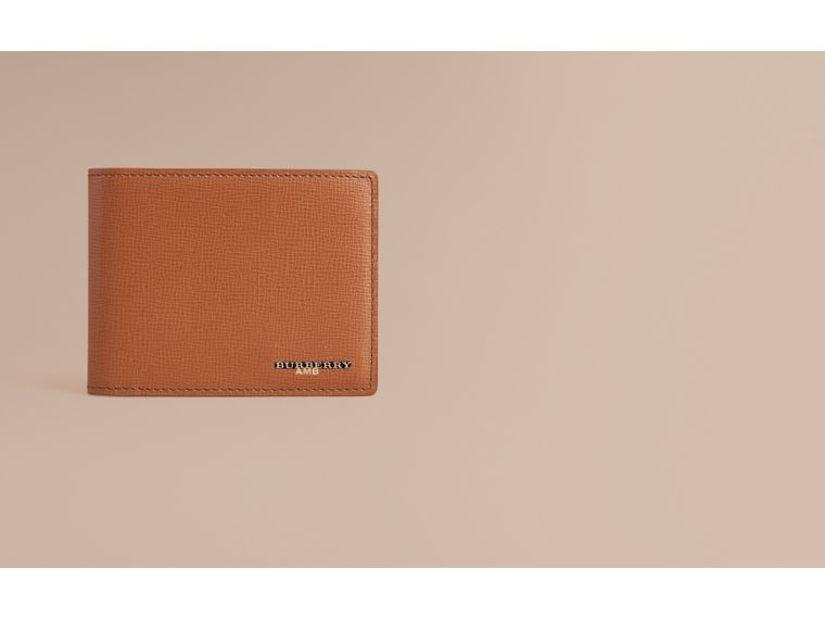 London Leather Bifold Wallet in Tan | Burberry - cell image 1