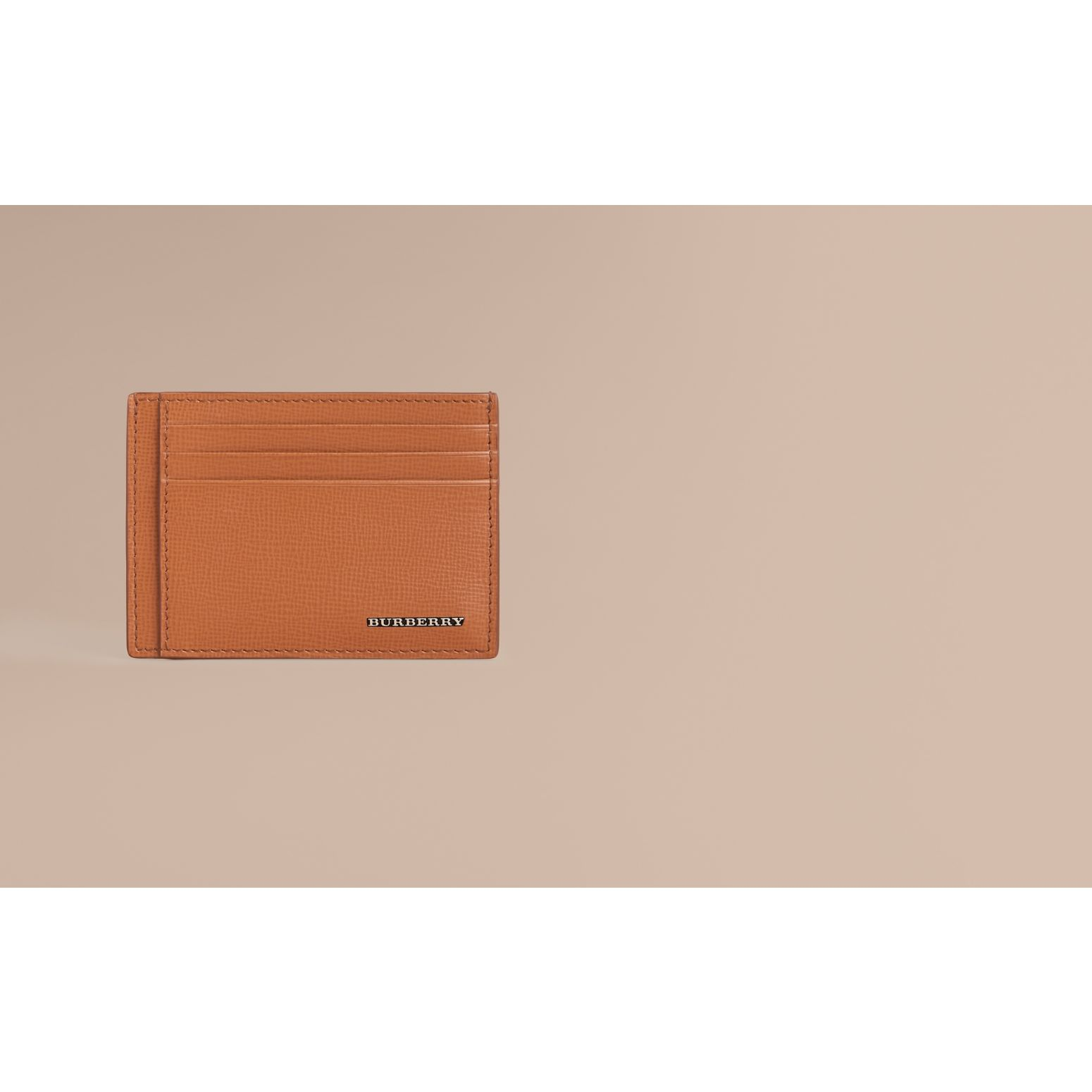 London Leather Card Case in Tan | Burberry Australia - gallery image 2