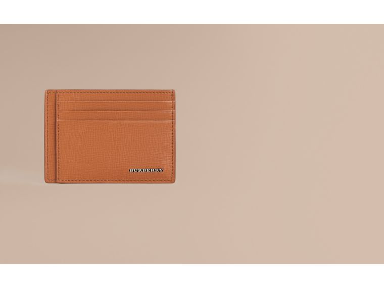 London Leather Card Case in Tan | Burberry Australia - cell image 1