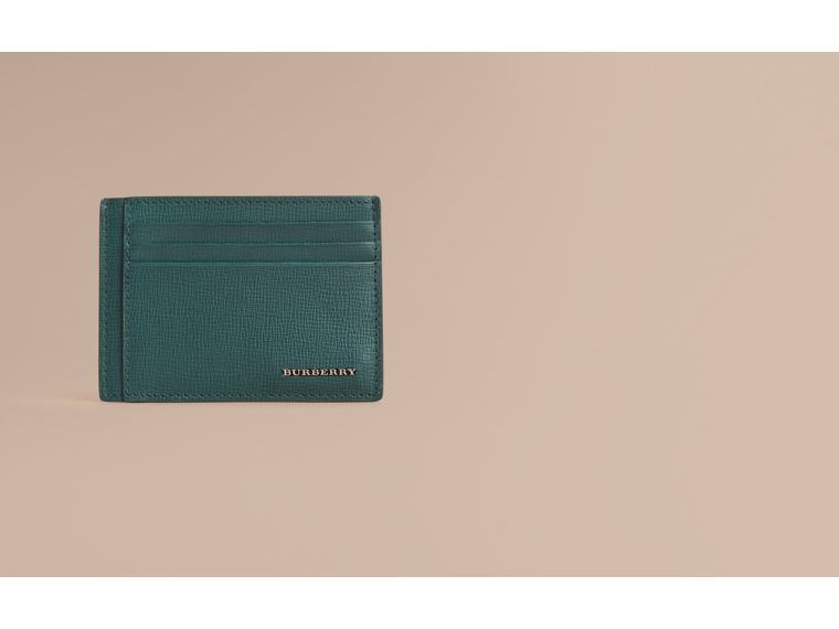 London Leather Card Case in Dark Teal | Burberry Canada - cell image 1