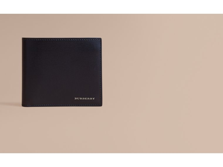 Leather International Bifold ID Coin Wallet in Black - Men | Burberry - cell image 1