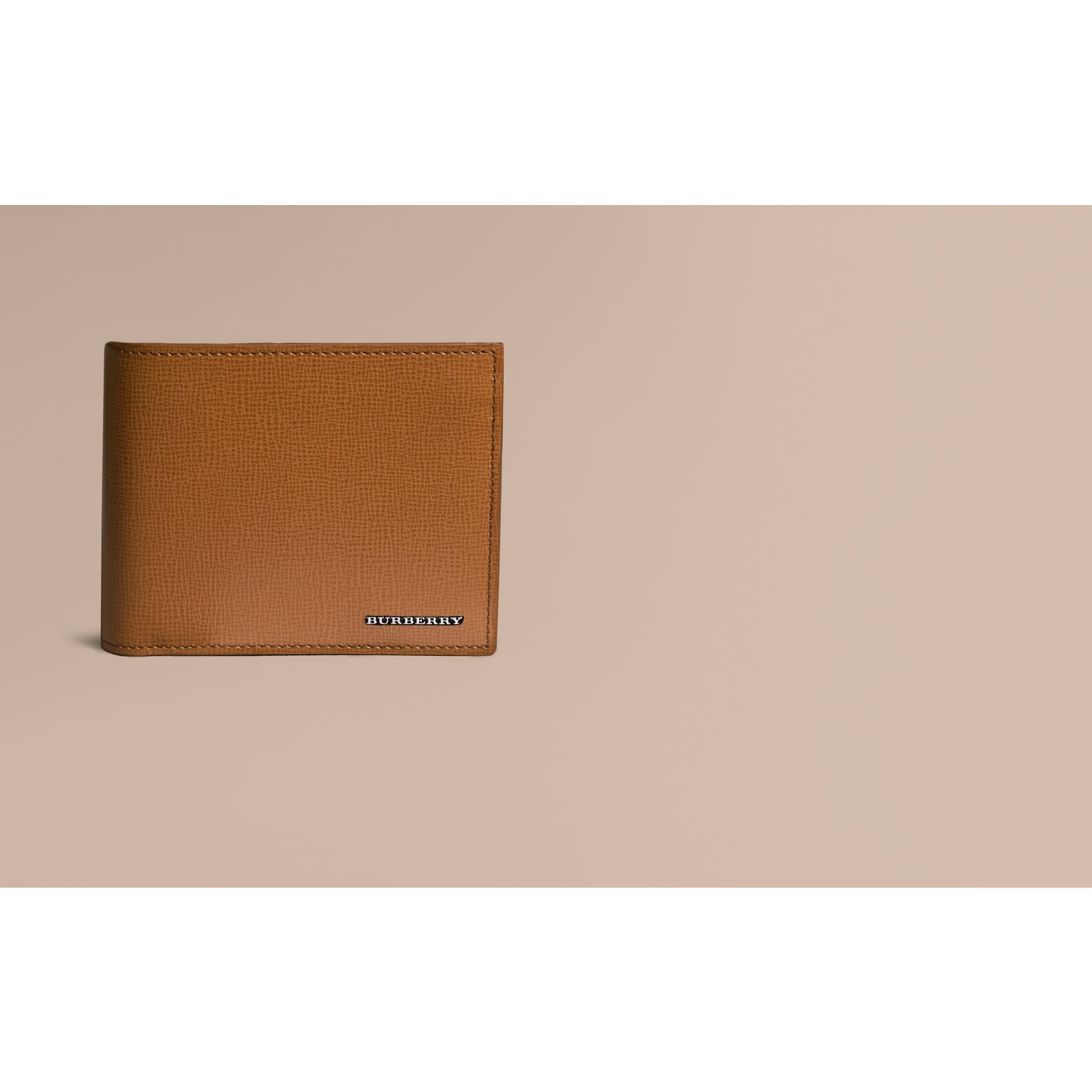 Leather International Bifold ID Coin Wallet in Tan | Burberry - gallery image 2
