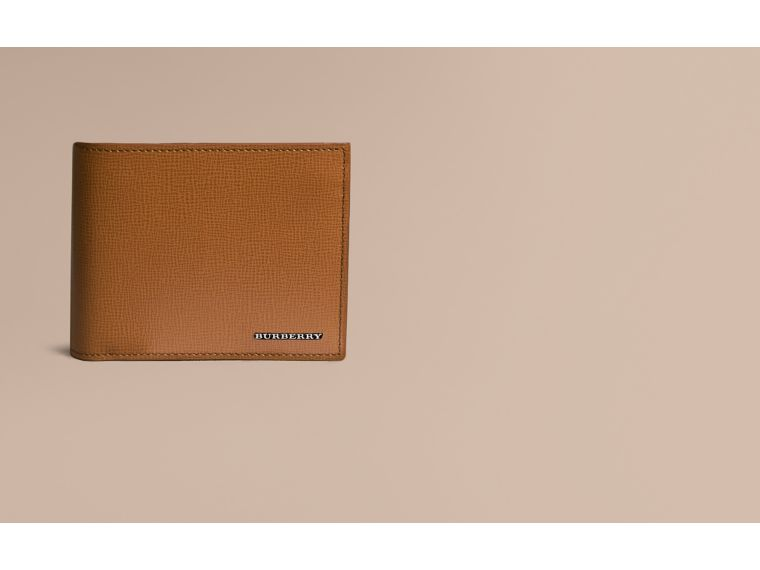 Leather International Bifold ID Coin Wallet in Tan | Burberry Singapore - cell image 1