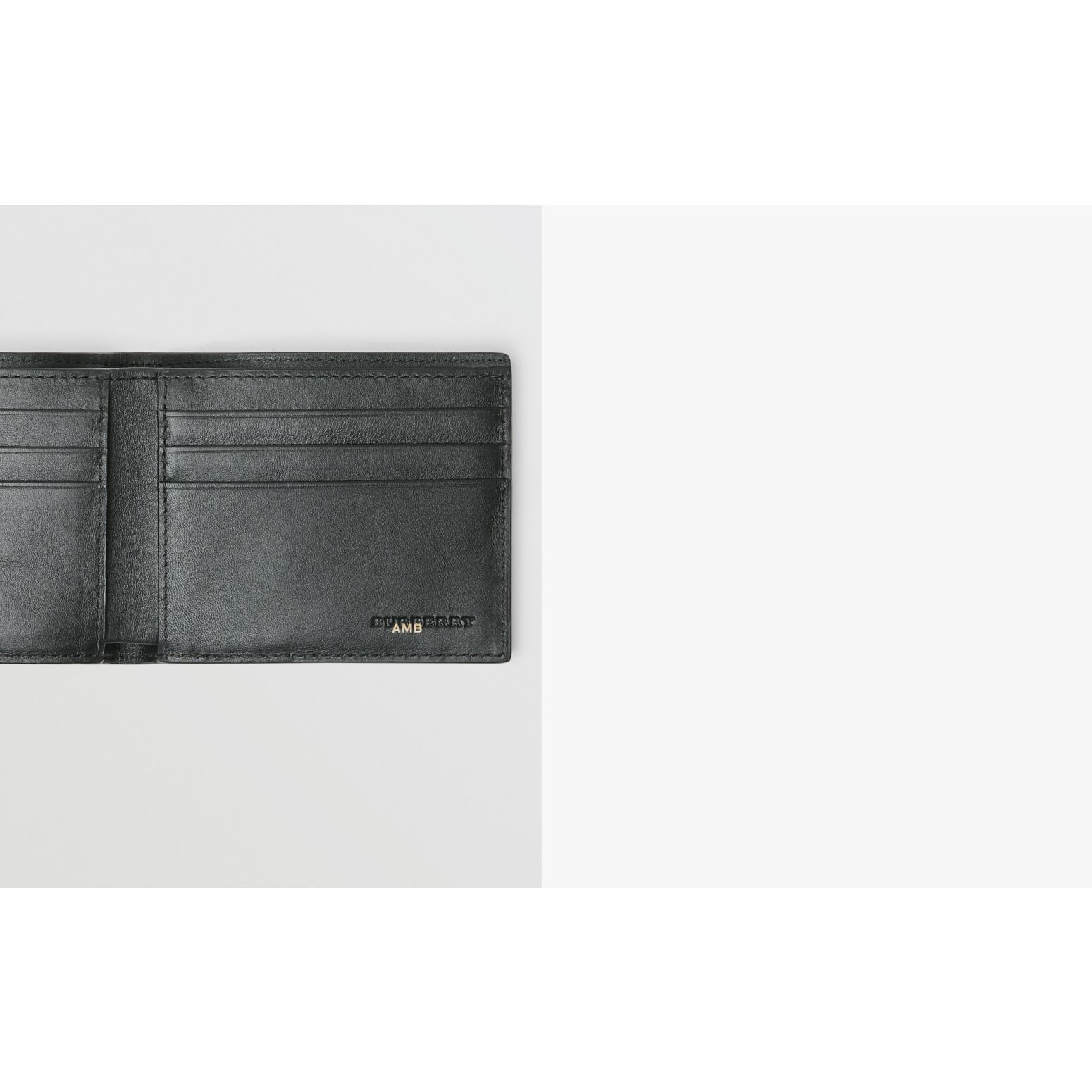 London Check Bifold Wallet in Charcoal/black - Men | Burberry United Kingdom - gallery image 1