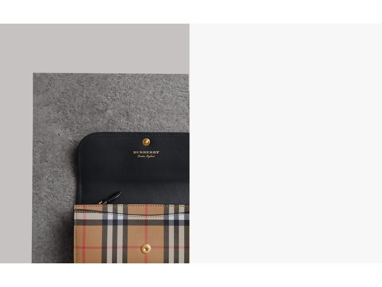 Carteira continental de couro e Vintage Check (Preto) - Mulheres | Burberry - cell image 1