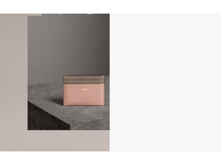 Two-tone Leather Card Case in Pale Ash Rose - Women | Burberry Hong Kong - cell image 1