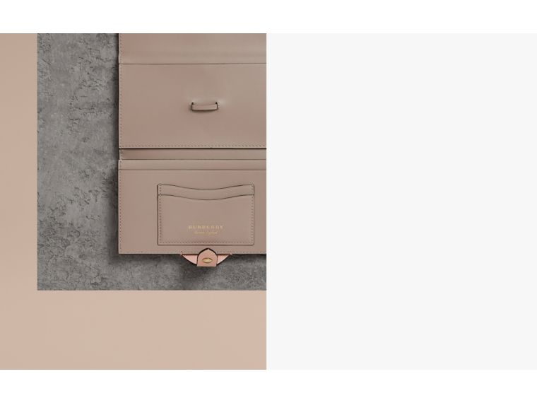 Equestrian Shield Two-tone Leather Continental Wallet in Pale Ash Rose - Women | Burberry - cell image 1