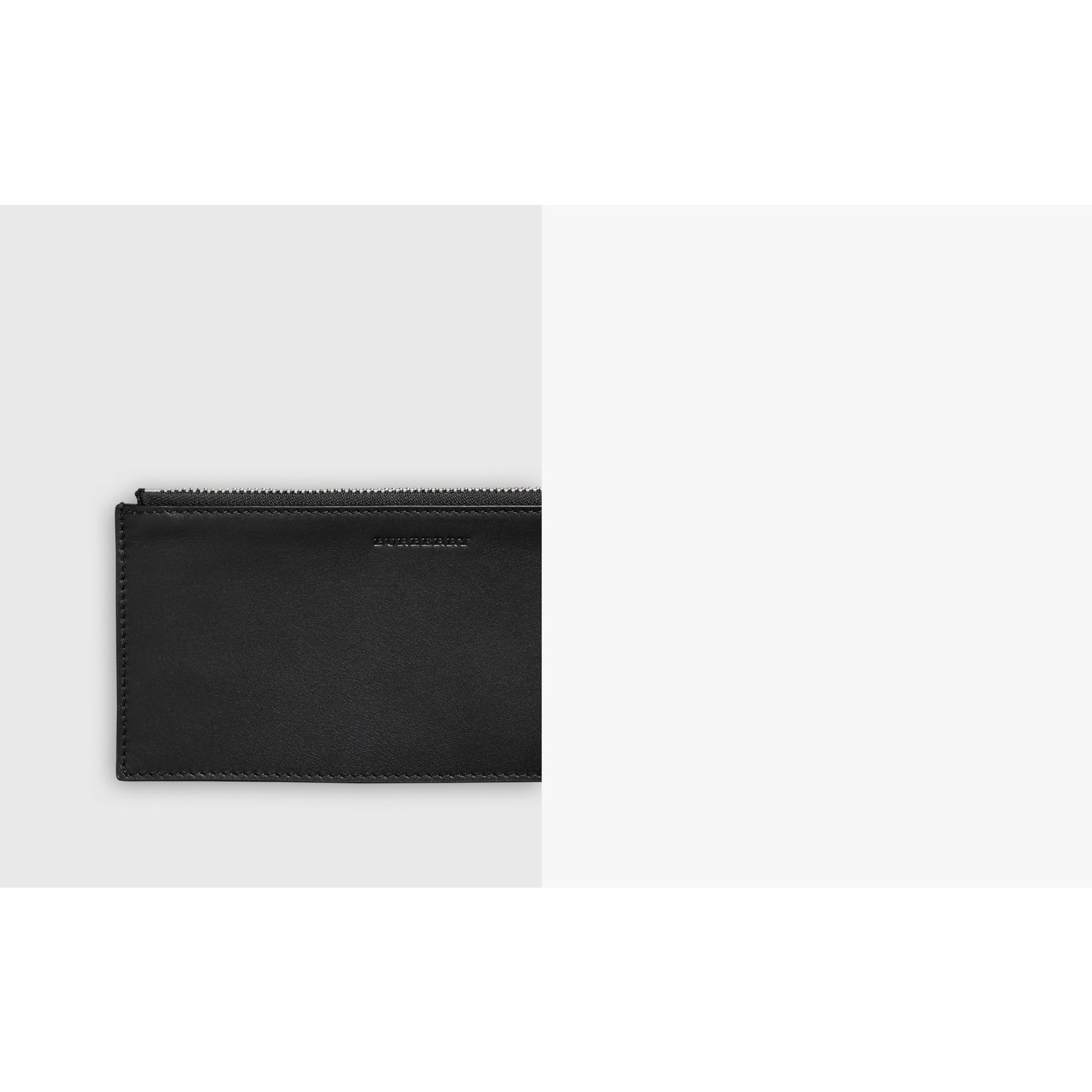 Two-tone Grainy Leather Travel Wallet in Black - Men | Burberry Australia - gallery image 1
