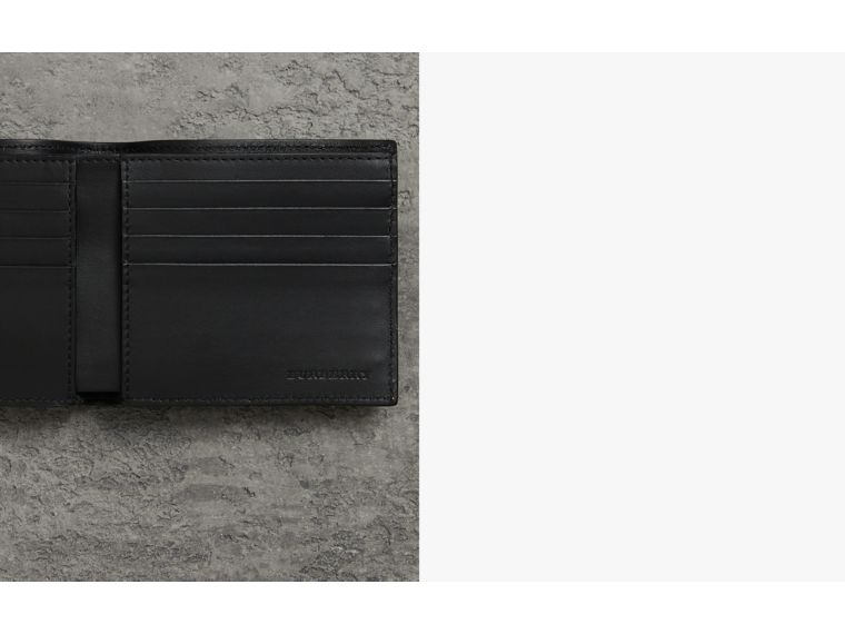 Grainy Leather International Bifold Wallet in Black - Men | Burberry Canada - cell image 1