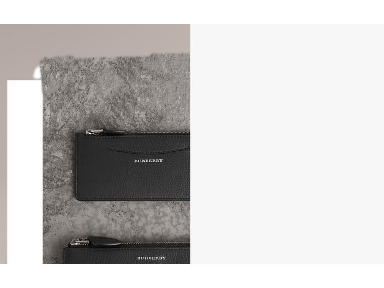 Two-tone Leather Ziparound Wallet and Coin Case in Black - Women | Burberry United Kingdom - cell image 1