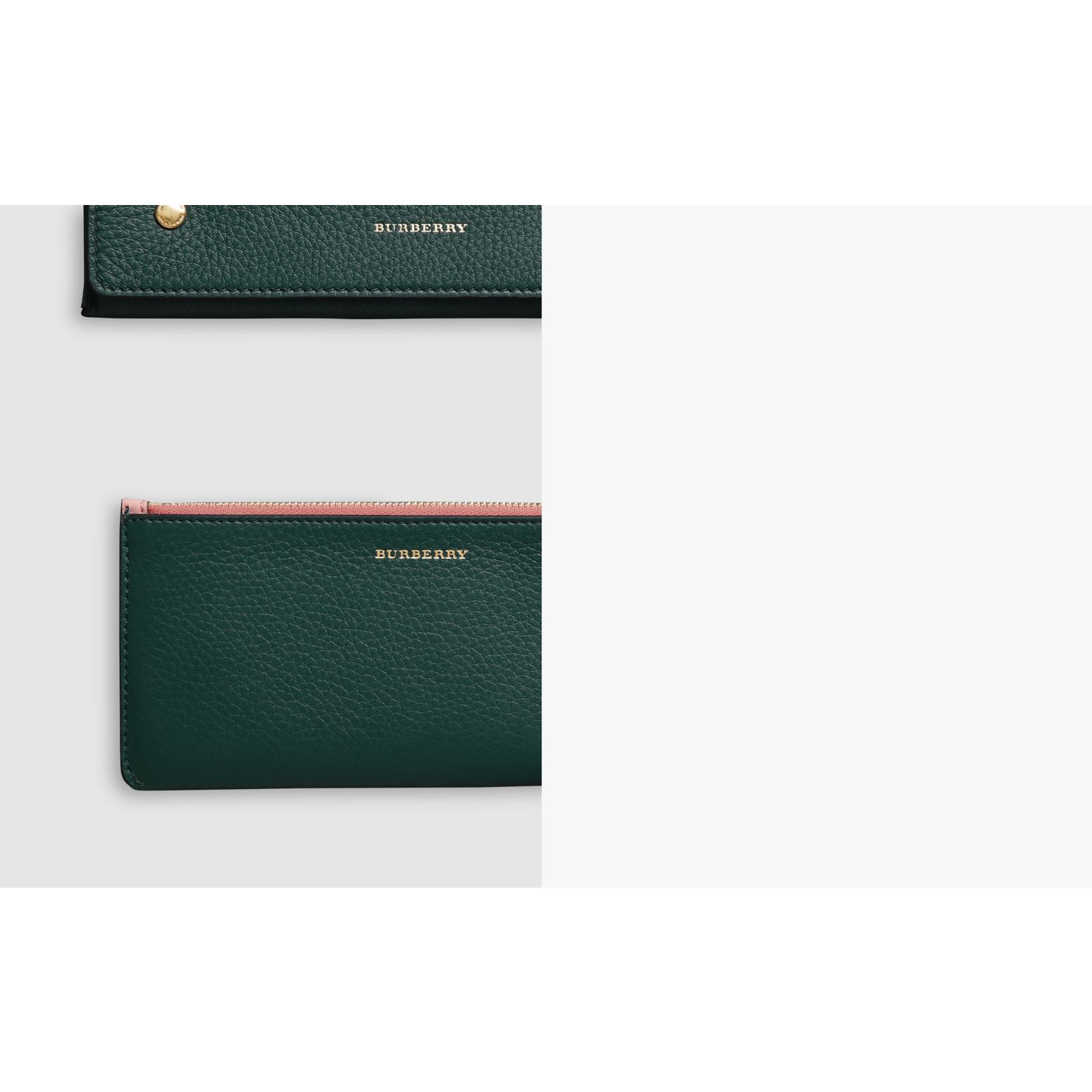 Two-tone Leather Continental Wallet in Dark Cyan - Women | Burberry Australia - gallery image 1