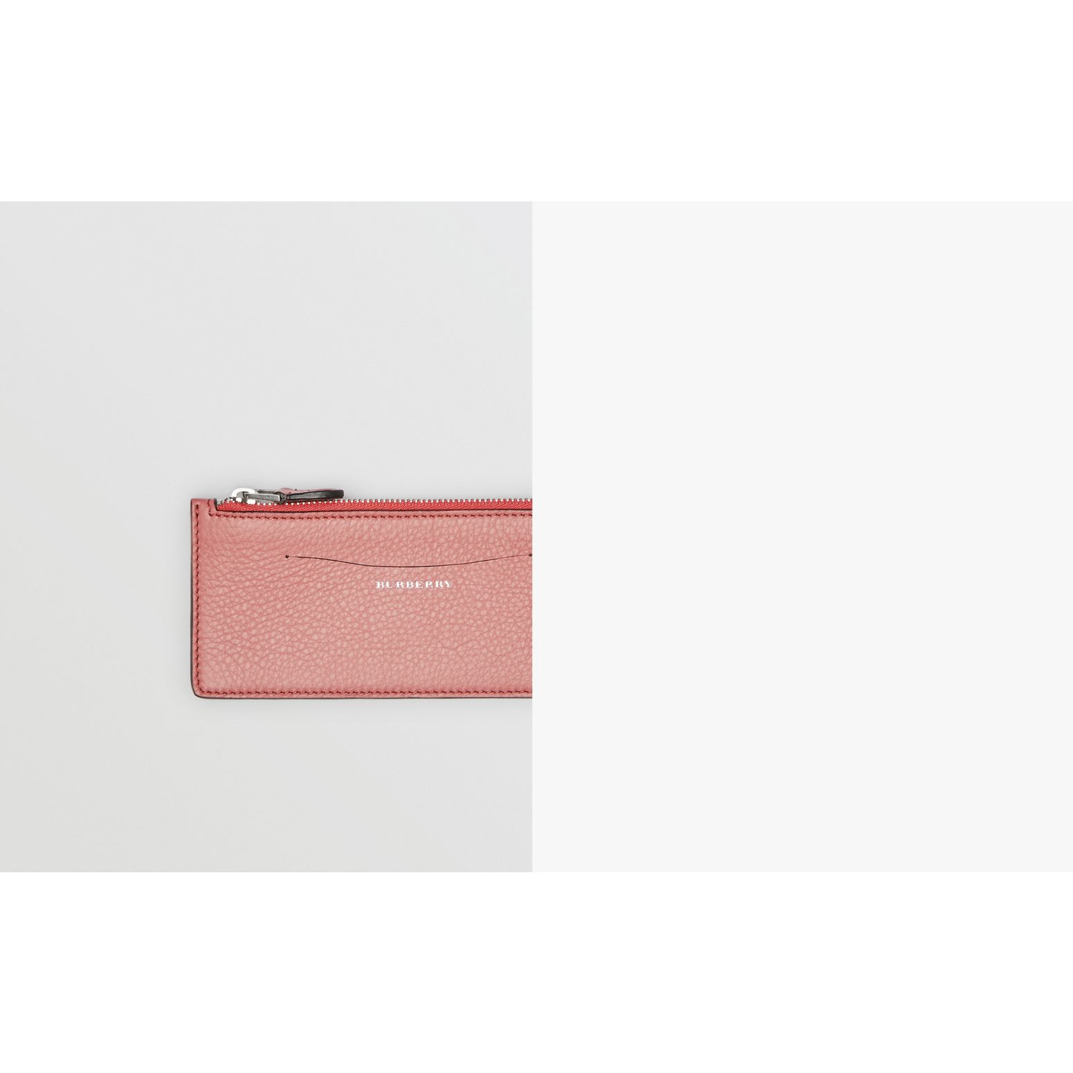 Two-tone Leather Ziparound Wallet and Coin Case in Dusty Rose - Women | Burberry United States - gallery image 1