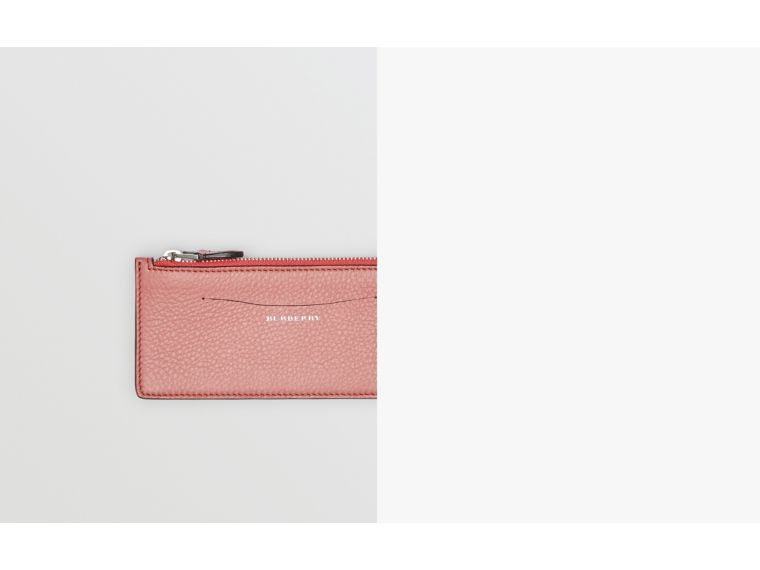 Two-tone Leather Ziparound Wallet and Coin Case in Dusty Rose - Women | Burberry - cell image 1
