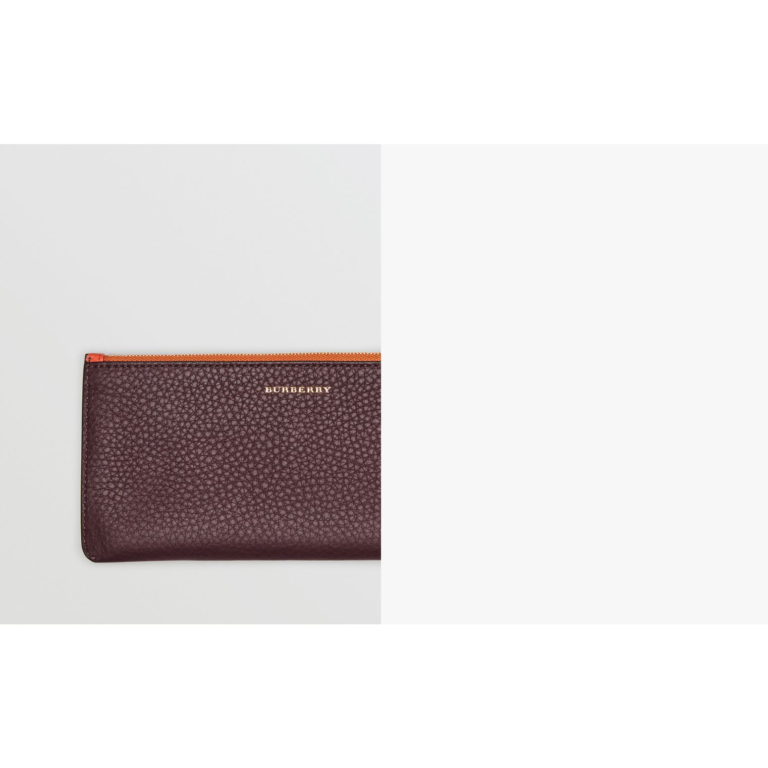 Two-tone Leather Continental Wallet in Deep Claret - Women | Burberry United States - gallery image 1