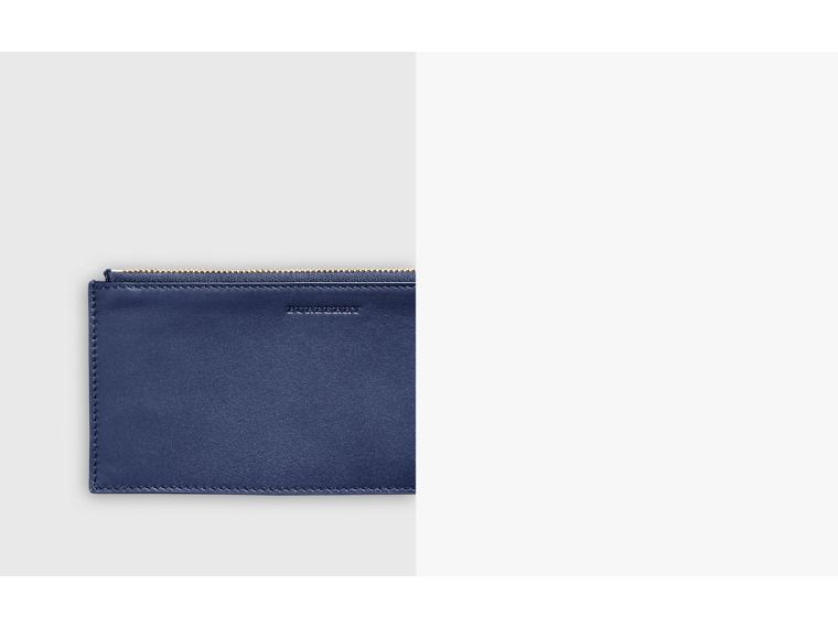1983 Check and Leather Travel Wallet in Ink Blue - Men | Burberry Australia - cell image 1