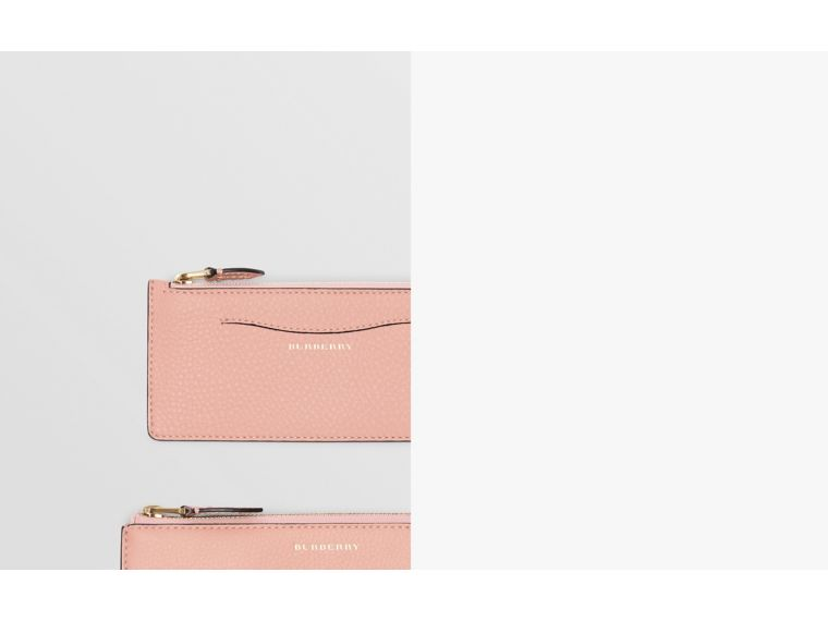 Two-tone Leather Ziparound Wallet and Coin Case in Ash Rose - Women | Burberry - cell image 1