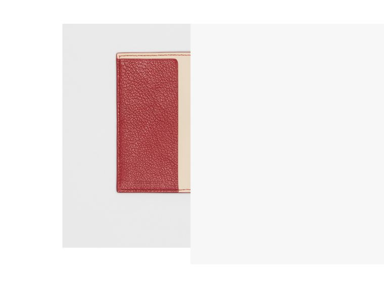 Leather Passport Holder in Crimson | Burberry - cell image 1