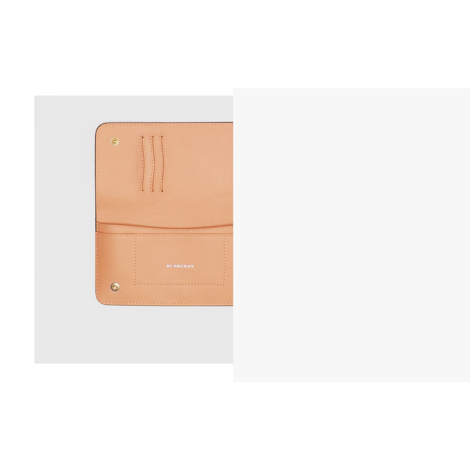 EKD Leather Phone Wallet in Light Camel - Women | Burberry - gallery image 1