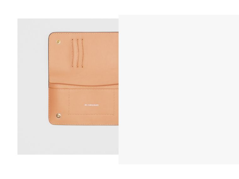 EKD Leather Phone Wallet in Light Camel - Women | Burberry - cell image 1