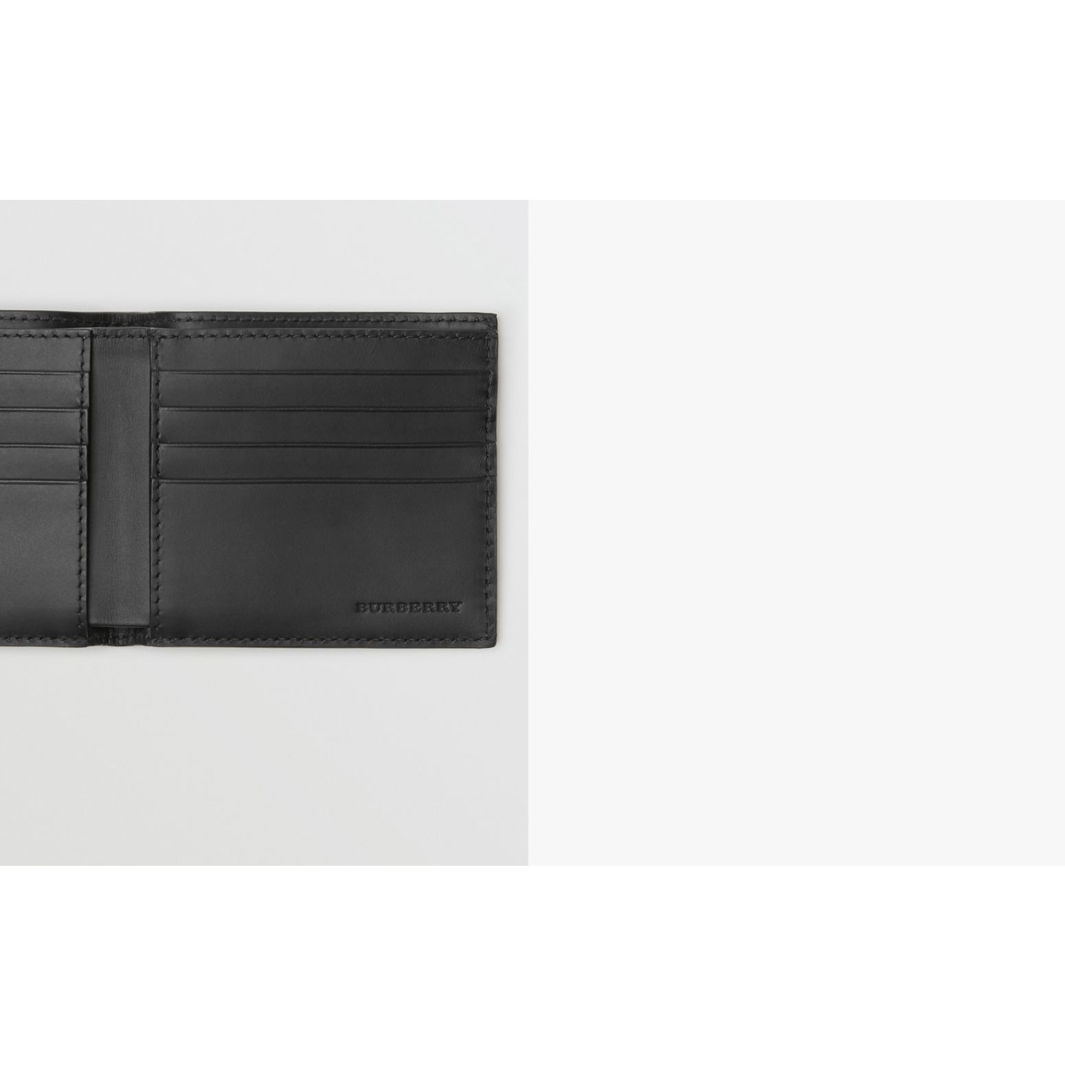 London Leather International Bifold Wallet in Black - Men | Burberry - gallery image 1