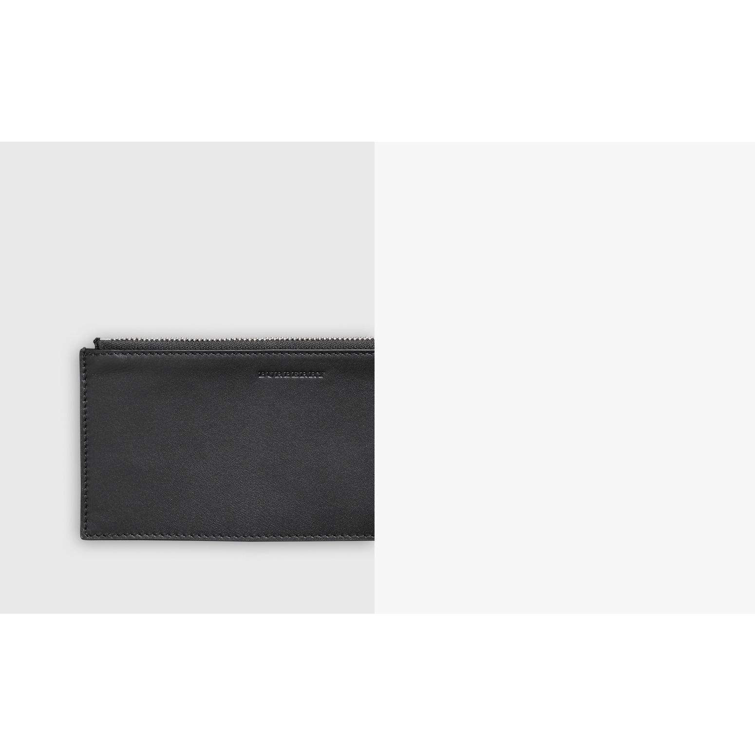 London Check and Leather Travel Wallet in Charcoal/black - Men | Burberry Singapore - gallery image 1