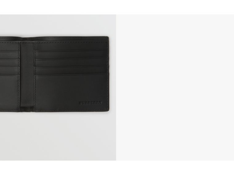 EKD London Check International Bifold Wallet in Charcoal/black - Men | Burberry - cell image 1