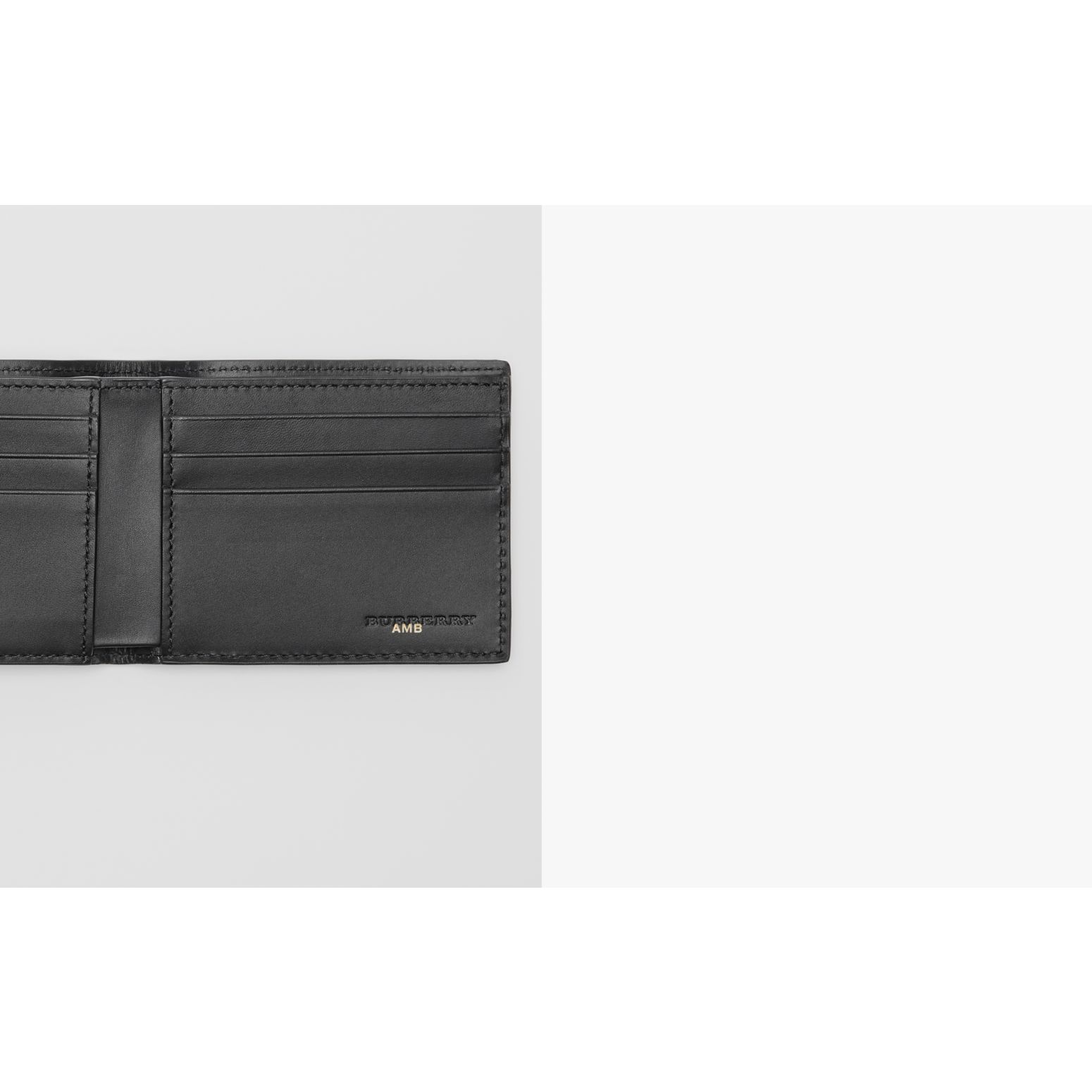 London Leather Bifold Wallet in Black - Men | Burberry - gallery image 1