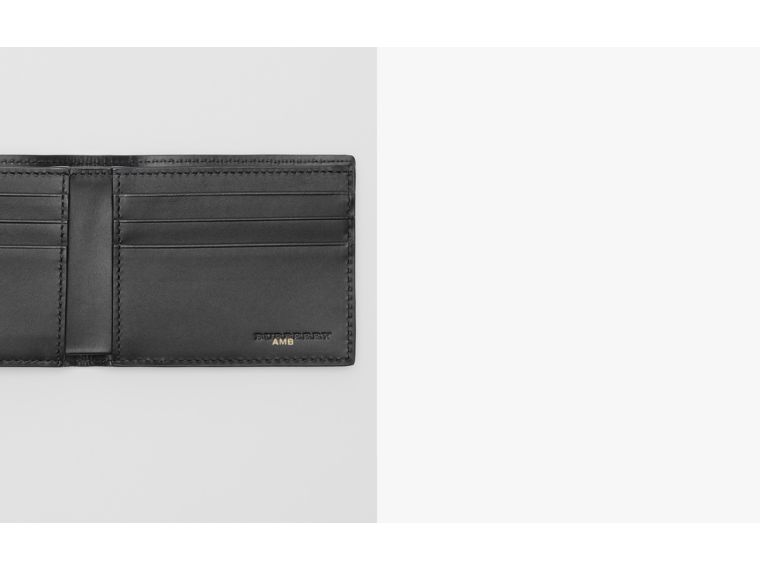 London Leather Bifold Wallet in Navy - Men | Burberry - cell image 1