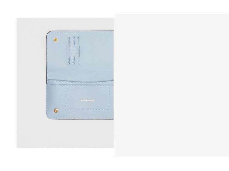 EKD Leather Phone Wallet in Regency Blue - Women | Burberry Singapore - cell image 1