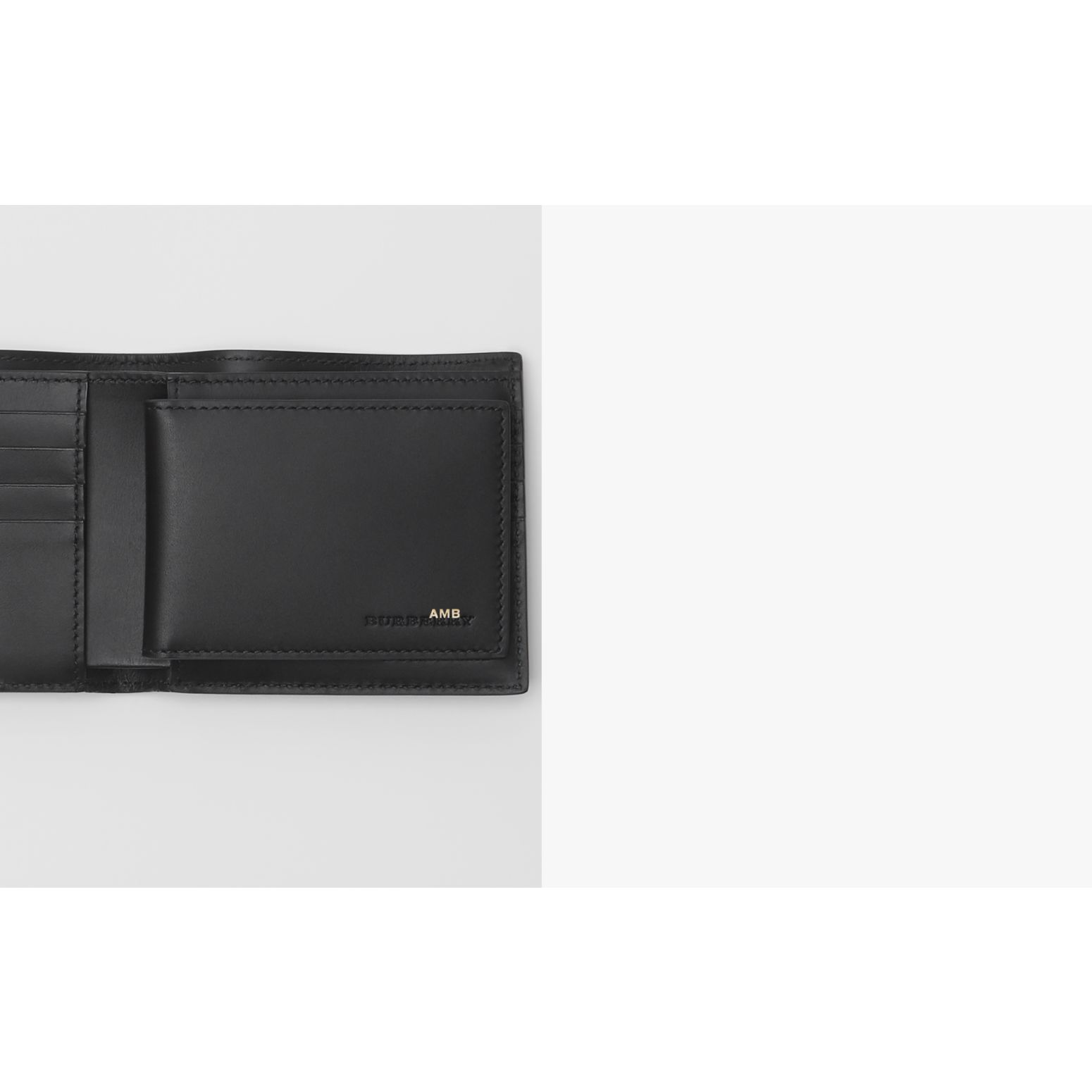 London Check Bifold Wallet with ID Card Case in Charcoal/black - Men | Burberry - gallery image 1