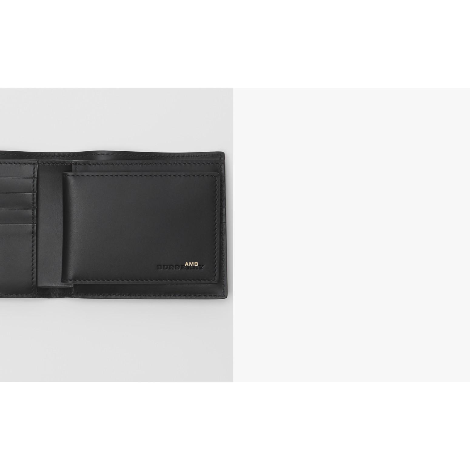 Portafoglio a libro con motivo London check con porta carte di credito (Nero Fumo/nero) - Uomo | Burberry - immagine della galleria 1