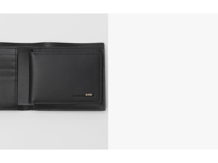 EKD London Leather Bifold Wallet with ID Card Case in Black - Men | Burberry - cell image 1