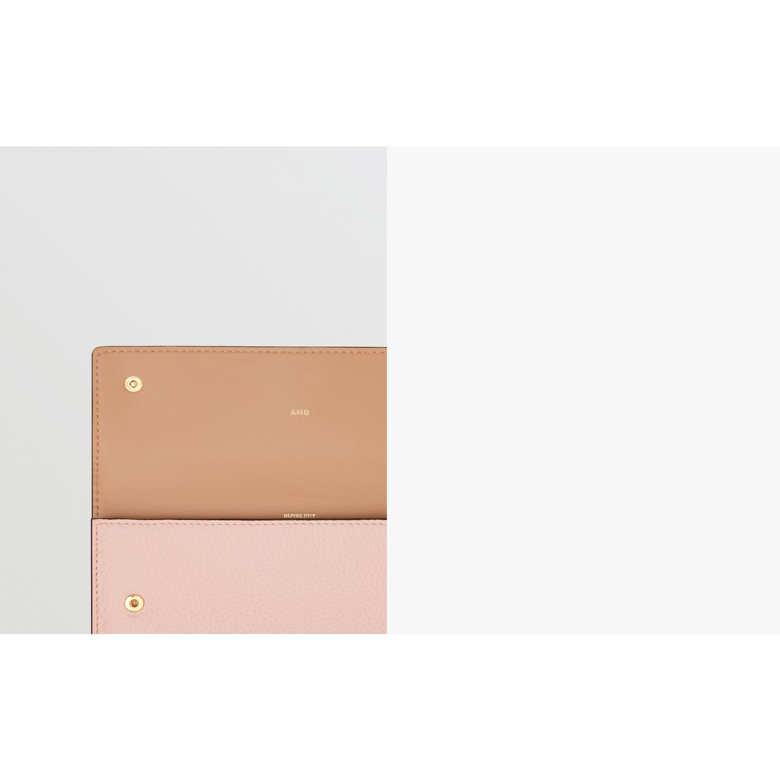 Grainy Leather Continental Wallet in Pale Ash Rose - Women | Burberry Australia - gallery image 1