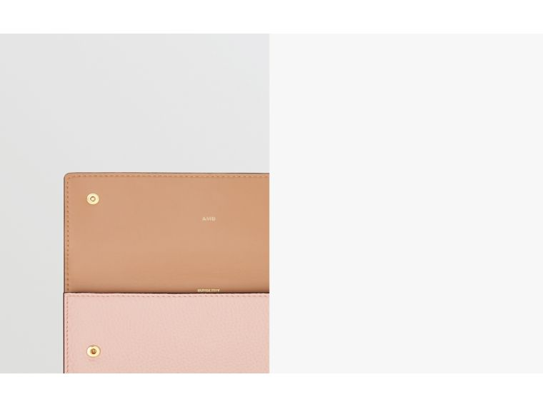 Grainy Leather Continental Wallet in Pale Ash Rose - Women | Burberry Australia - cell image 1