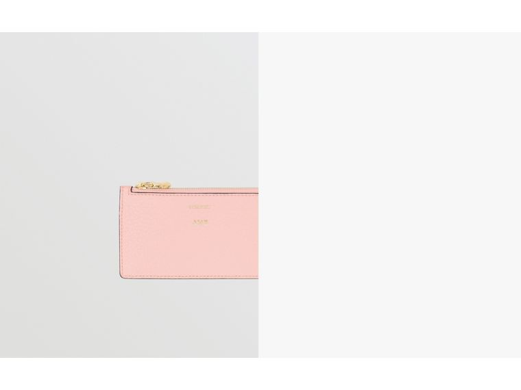 Leather Zip Card Case in Pale Ash Rose | Burberry Australia - cell image 1