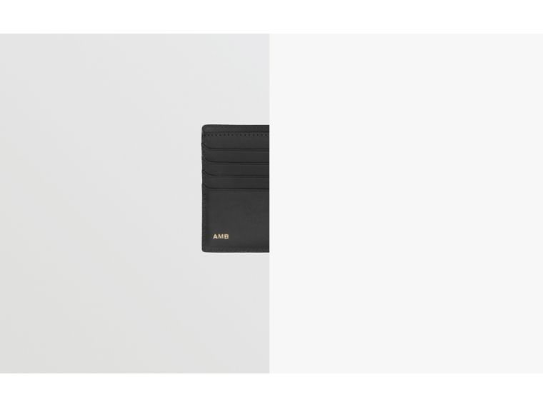 London Check Bifold Wallet with ID Card Case in Dark Charcoal - Men | Burberry United Kingdom - cell image 1