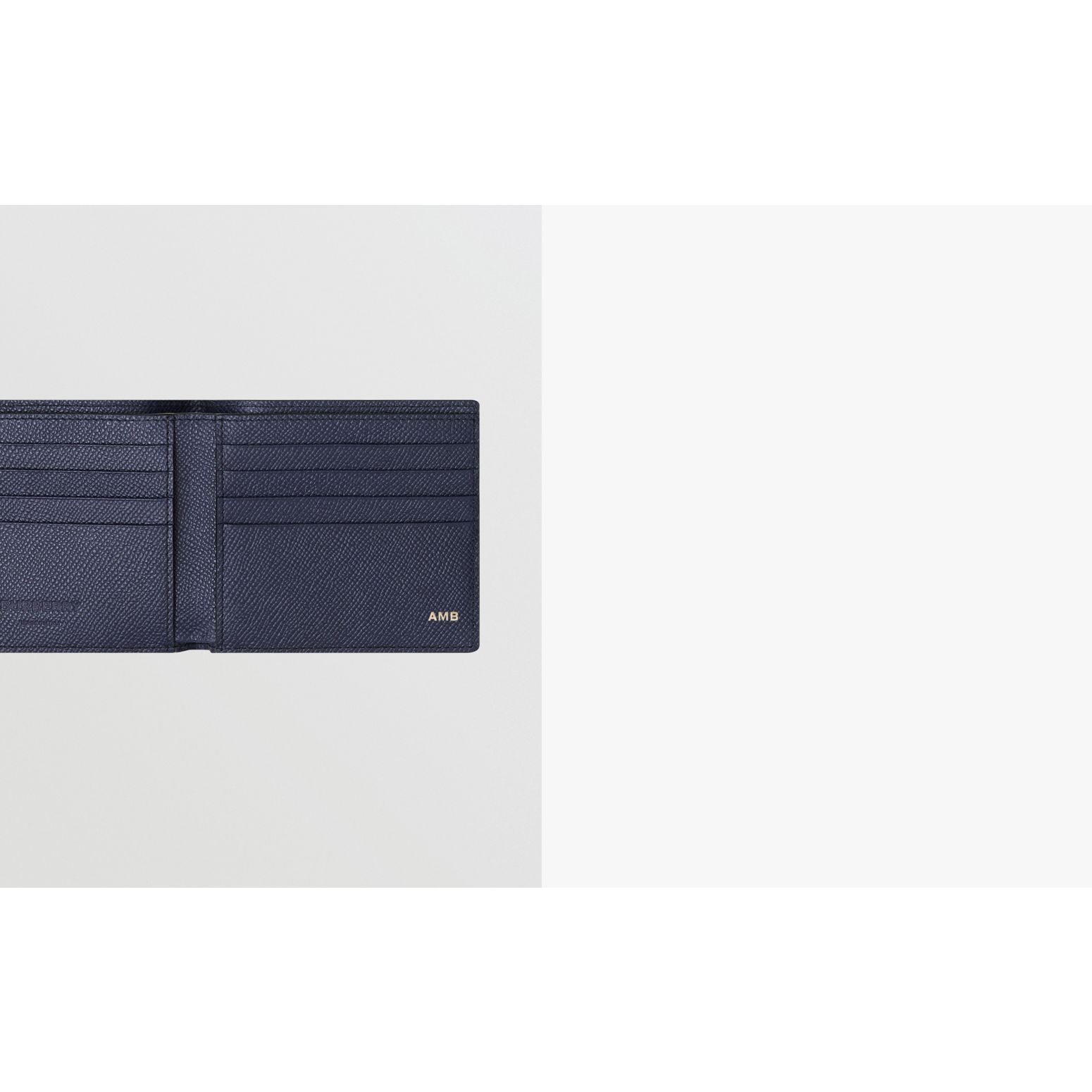 Grainy Leather International Bifold Wallet in Regency Blue - Men | Burberry - gallery image 1