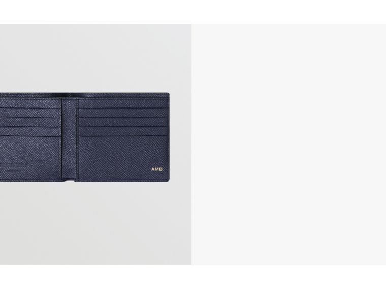 Grainy Leather International Bifold Wallet in Regency Blue - Men | Burberry United Kingdom - cell image 1