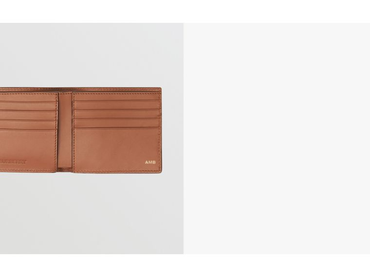 Horseferry Print Leather International Bifold Wallet in Malt Brown - Men | Burberry - cell image 1