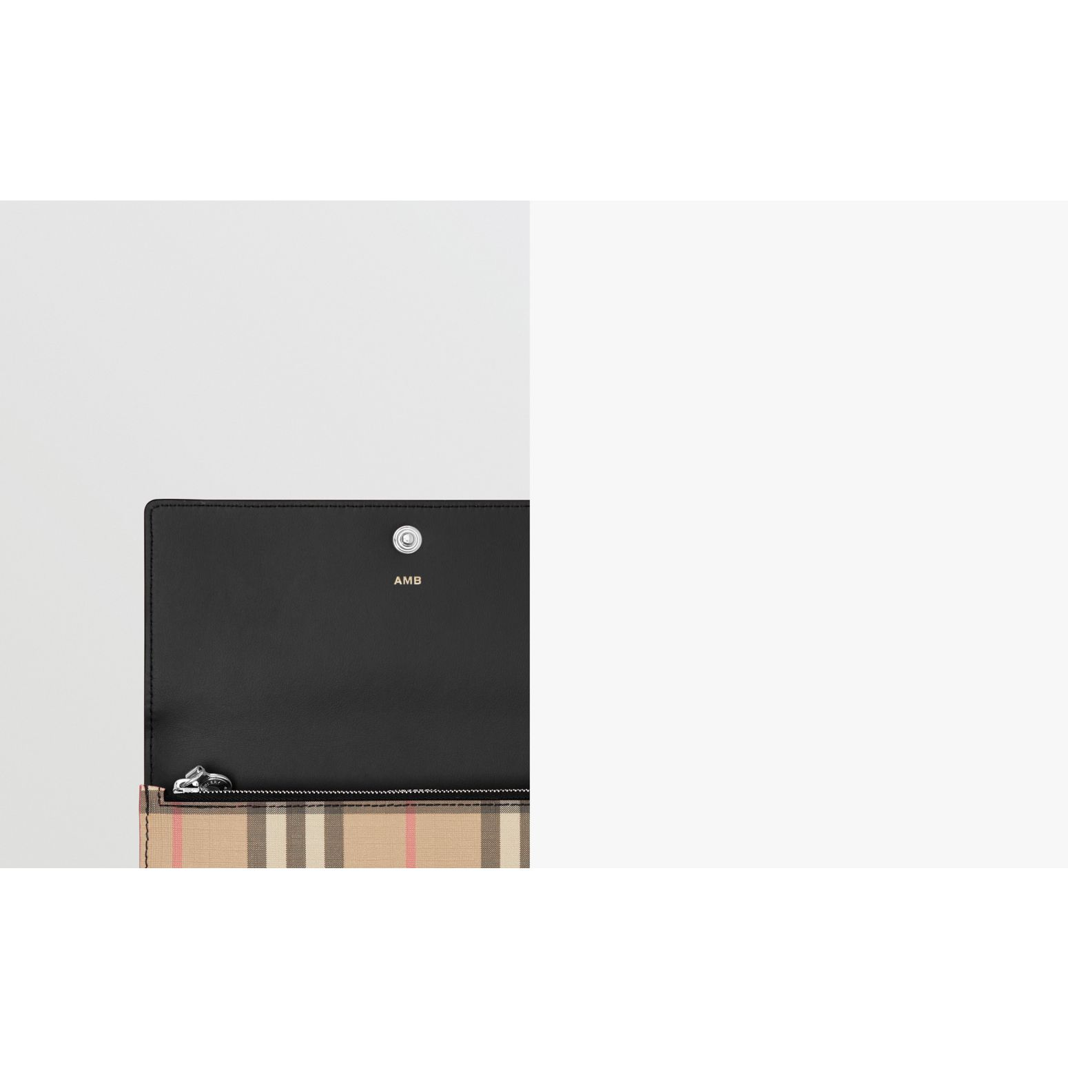 Vintage Check E-canvas Continental Wallet in Black - Women | Burberry Canada - gallery image 1