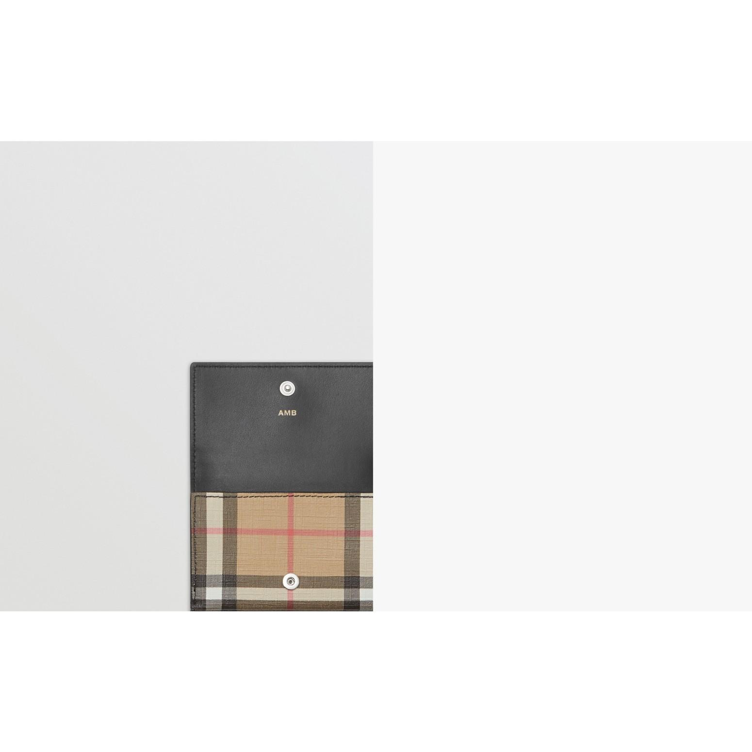 Складной бумажник из ткани e-canvas в клетку (Черный) - Для женщин | Burberry - изображение 1