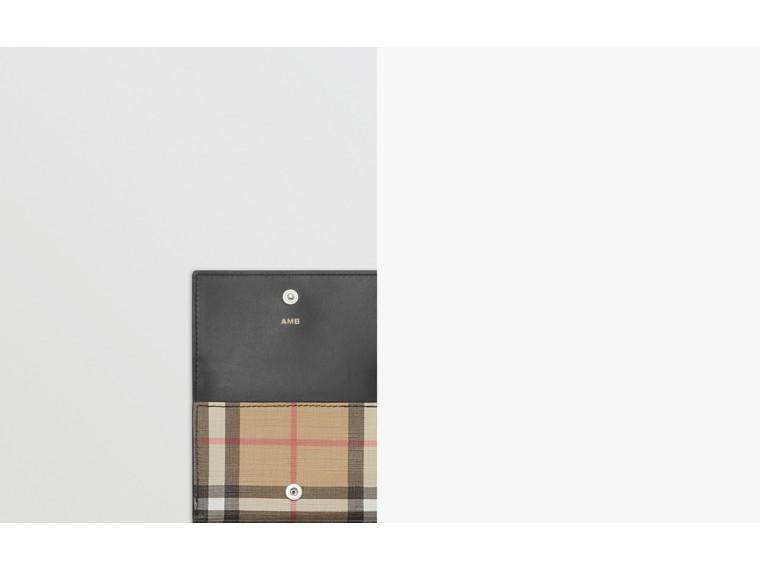 Складной бумажник из ткани e-canvas в клетку (Черный) - Для женщин | Burberry - cell image 1